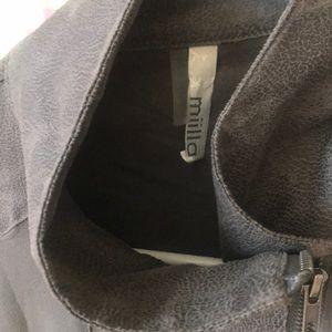 Miilla Clothing Tops - Miilla sheer moto jacket. Charcoal.